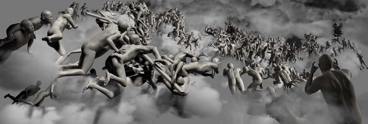 The Last Judgement in Cyberspace -The Vertical View