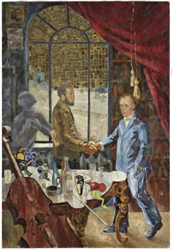 Meeting Between Solzhenitsyn and Boll at Rostropovich's Country House (from the series Sots Art)
