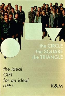 Poster advertising 'Circle, Square, Triangle'