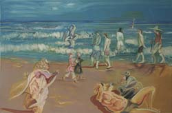 Shomal (Beach at the Caspian) (left panel)