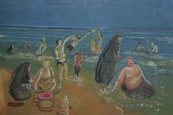 Shomal (Beach at the Caspian) (right panel)